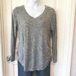 Liz Lange Maternity Gray Long sleeve Top Tee XXL